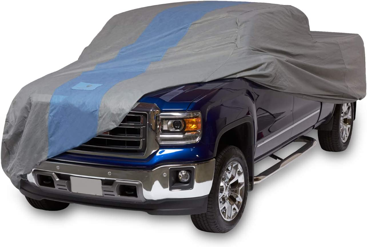 Amazon Com Duck Covers A1t264 Defender Pickup Truck Cover For Crew Cab Long Bed Dually Trucks Up To 22 Gray Light Blue 264 Inch Length X 80 Inch Width X 60 Inch Height Automotive