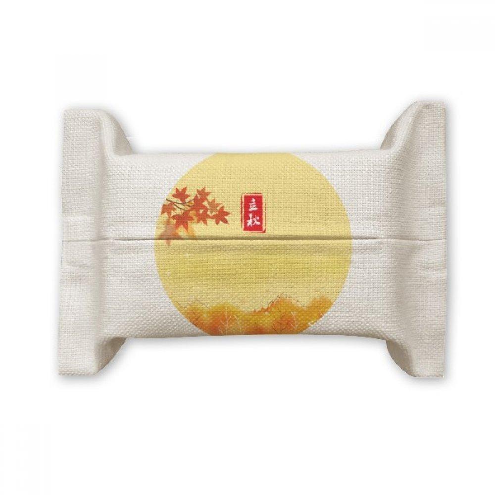 DIYthinker Autumn Begins Twenty Four Solar Term Cotton Linen Tissue Paper Cover Holder Storage Container Gift
