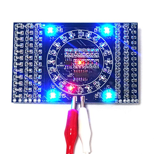Rotating Flashing LED Components Soldering Practice Board Skill Electronic Circuit Training Suite Electronic DIY Kit