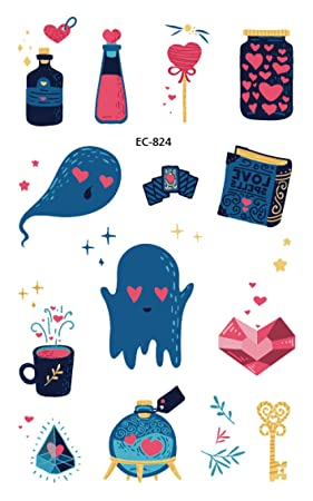 5 Piezas De Dibujos Animados Tatuaje De Halloween Para Niños ...