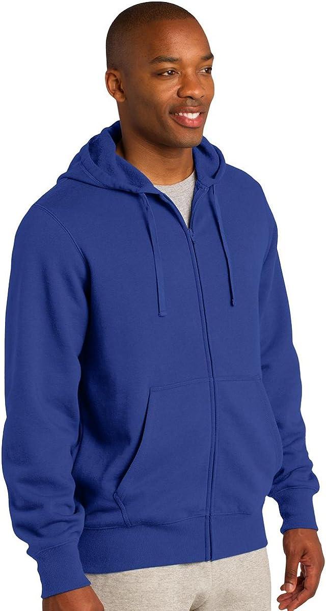 Sport-Tek Mens Full-Zip Hooded Sweatshirt (ST258) Graphite Heather