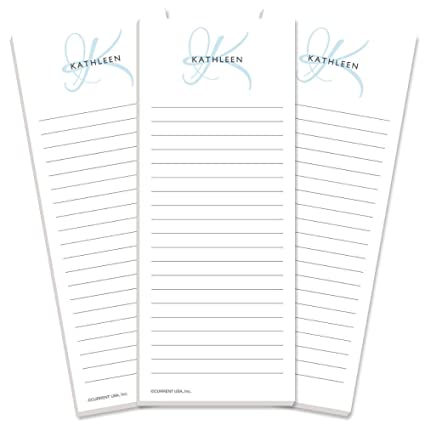 Image Unavailable  sc 1 st  Amazon.com & Amazon.com : Initial Personalized Lined Shopping List Pads -Set of 3 ...