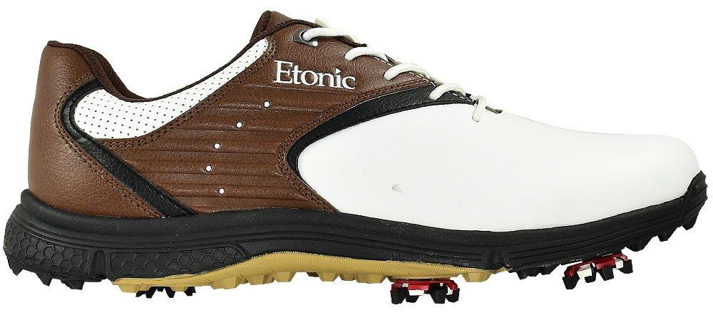 Etonic golf- Stabilite靴 B07B6TMSM9 10.5 Medium ホワイト/ブラウン