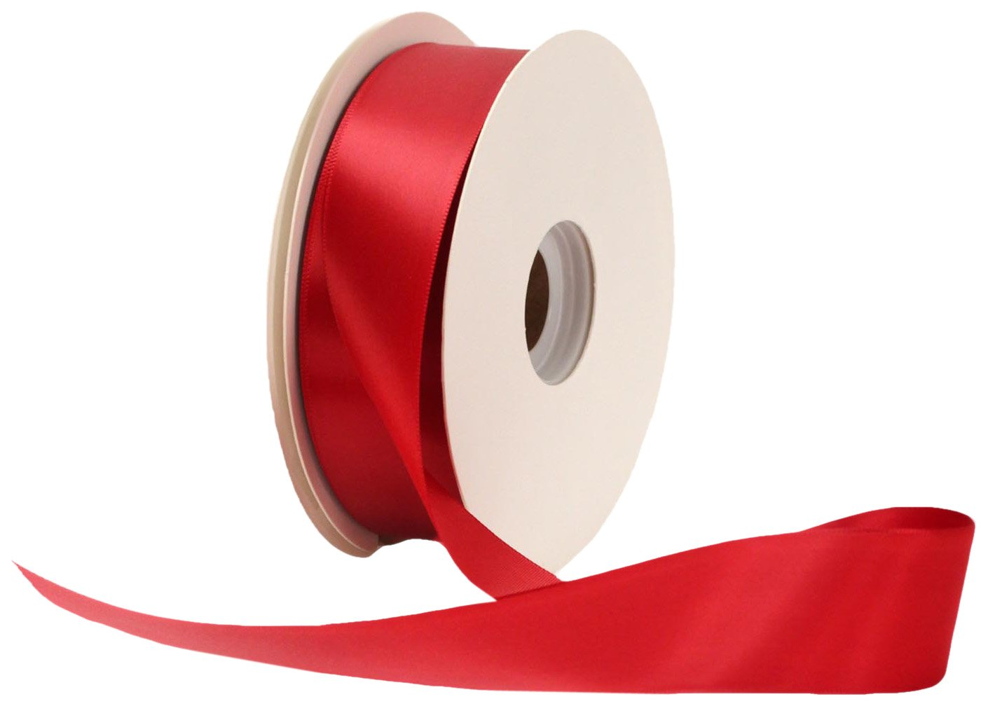 Offray Single Face Satin Craft 1 1/2-Inch by 50-Yard Ribbon Spool, Sherry 249130