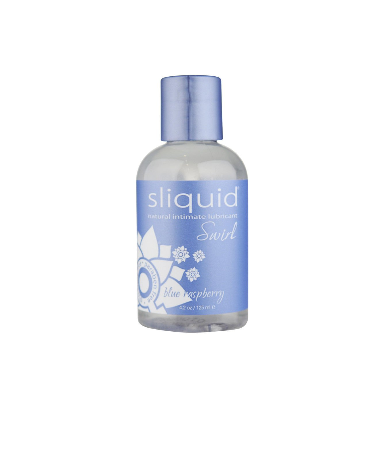 Sliquid Swirl Lubricant - Blue Raspberry Flavor - 4.2 Oz