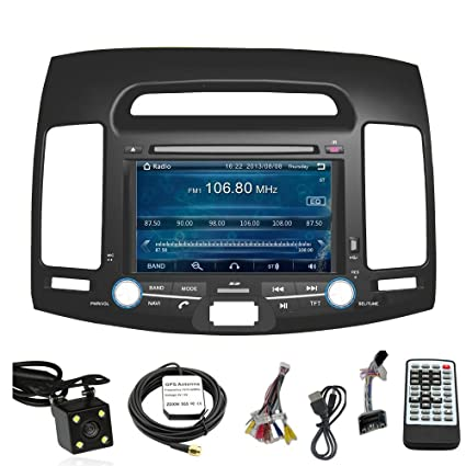 Car Stereo DVD Player for HYUNDAI ELANTRA 2007 2008 2009 2010 Double Din 7 Inch Touch