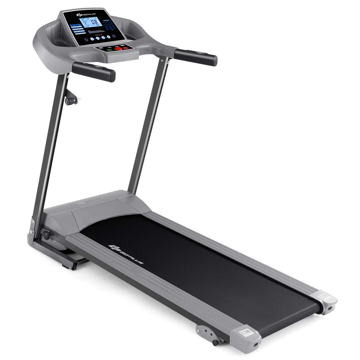 Goplus 2.25HP Electric Folding Treadmill with Incline, Walking Running Jogging Fitness Machine with Blue Backlit LCD…