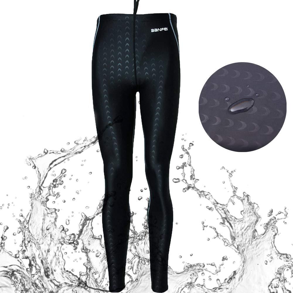 VANPIE Mens Wetsuits Pants Long UV Swim Pants Quick Dry Rash Guard Pant Dive Skins Full Length Tights Grey L by VANPIE