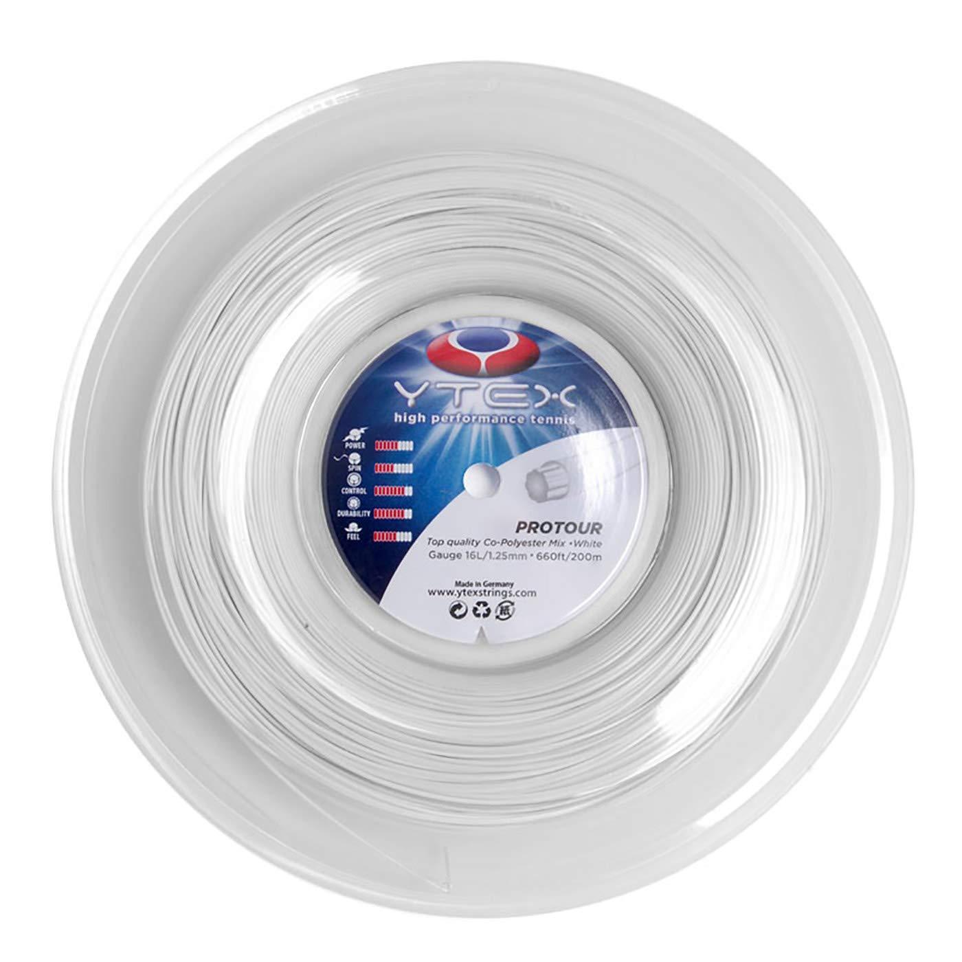 16 Gauge, 1.27mm 850169005312 YTEX Protour Orange Tennis Racquet String Reel