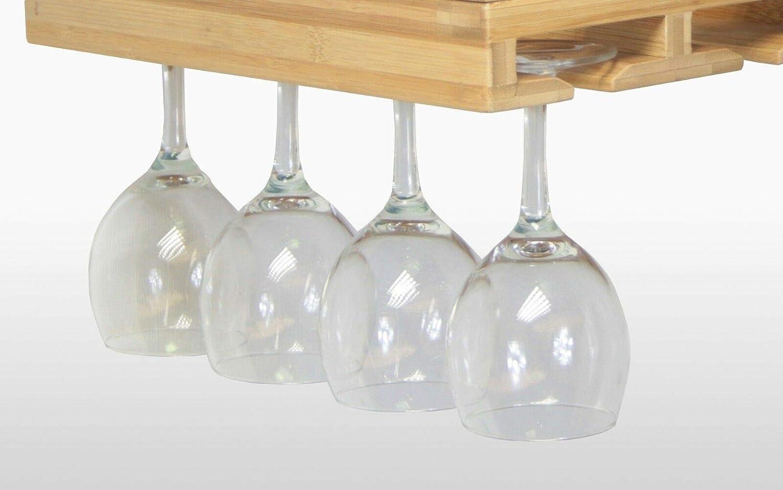Portabicchieri Realizzato in bamb/ù Scolabicchieri Porta Calici Vino da Vino per Cucina Woodquail Supporto Bicchiere Vino Bar o Ristorante