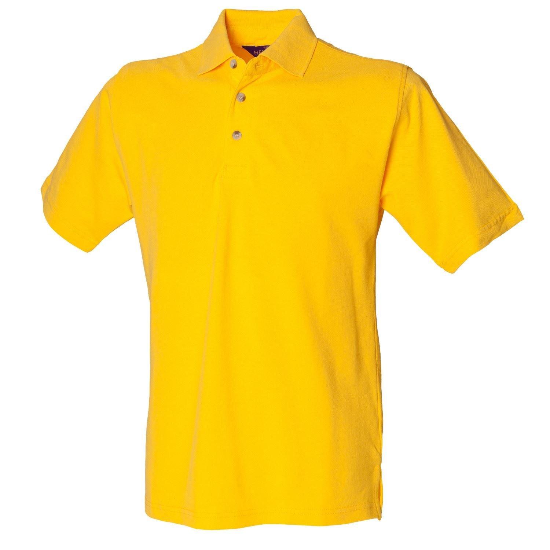 Henbury Classic Heavy Pique Polo Shirt H100 Amarillo Grande Yelloq ...