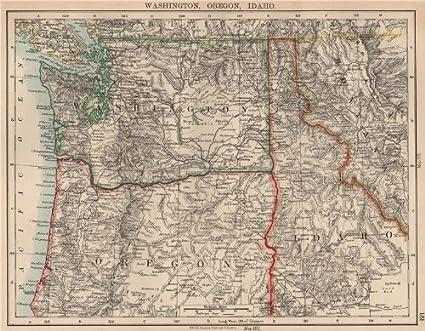 Amazon.com : USA PACIFIC NORTHWEST. Washington State Oregon Idaho ...