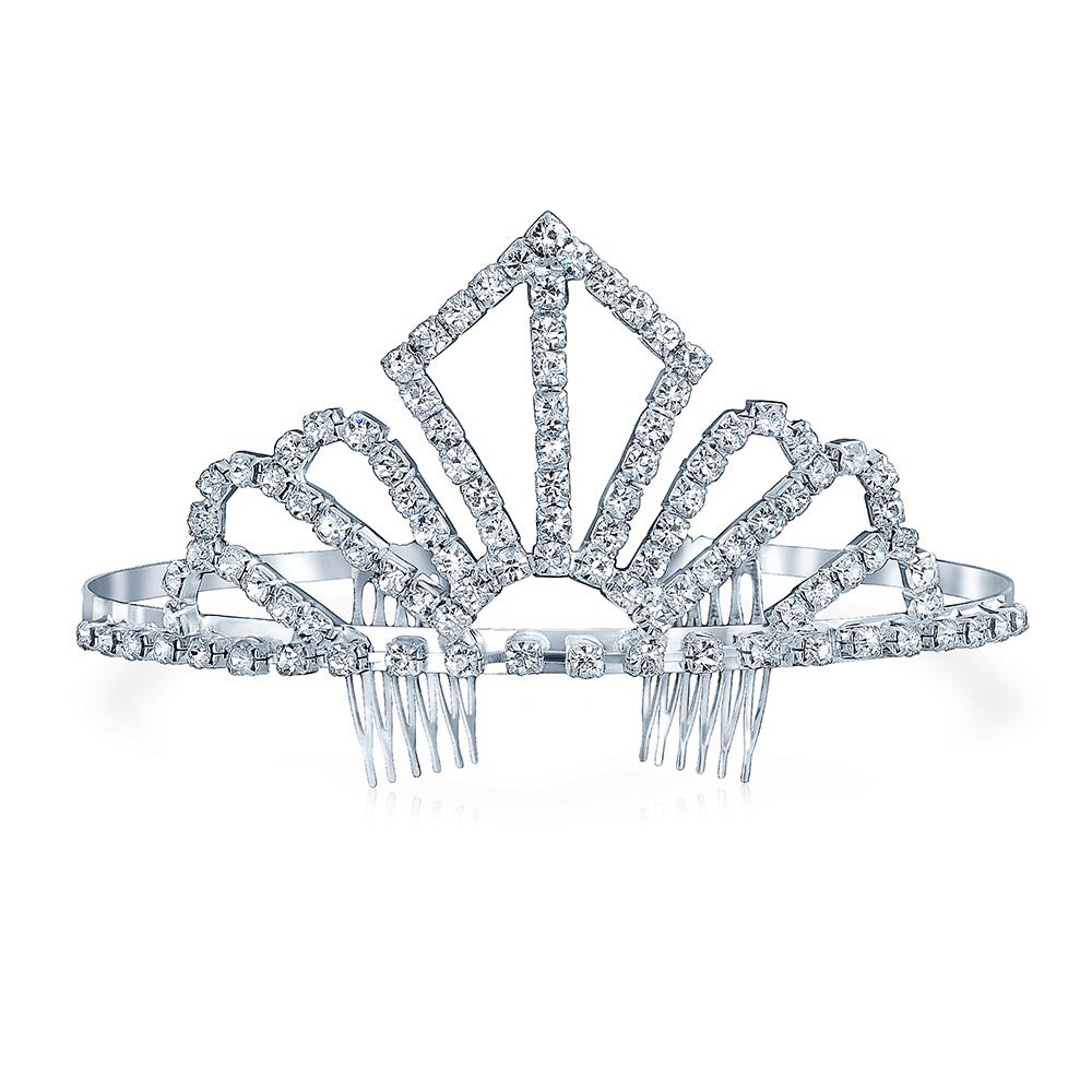 Bling Jewelry Gold Plated Crystal Silver Screen Queen Bridal Tiara HB-104003-BJ