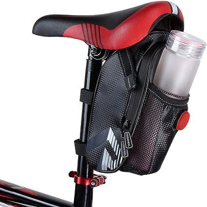 RockBros MTB Road Bike Saddle Bag Pouch Bicycle Seat Bag /& Waterproof Bag Cover