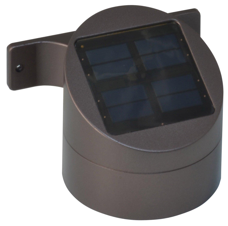 Moonrays 91851 15-Lumen Wall Mount Solar Powered Deck Sconce, Bronze