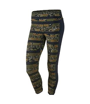 Nike Women s Dri-Fit Clash Epic Lux Running Crop Pants-Militia Green Black bb8c242d2690