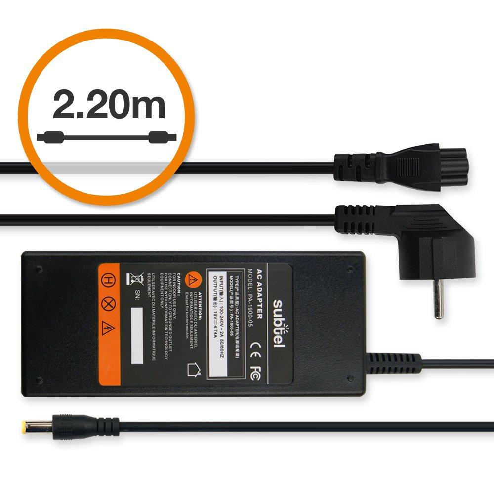 subtel® Fuente de alimentación (19V,90W) para eMachines D/E ...