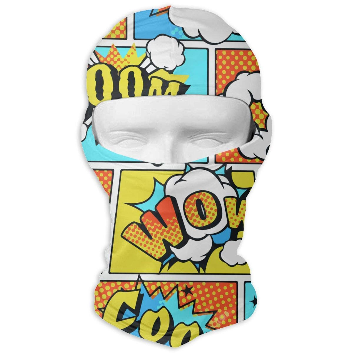 Gxdchfj Comic Style Boom Wow Windproof Dust Protection Balaclava Full Face Mask Hood Headcover
