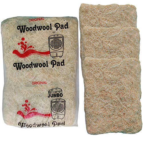 UR LITTLE SHOP Air Cooler Grass_All In One JUMBO Cooling Pads_Wood Wool_24 x 28 Inches_Set Of 3 Pack_Suitable For All Desert Coolers U2CG2