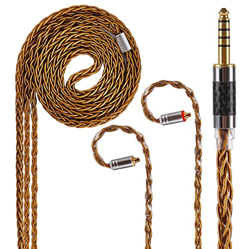 8 Core Pure Silver Balanced Earphone Cable MMCX in Ear Monitor Cable, 7N Upgrade HiFi IEM Audio 4 Pole Cable Replacement Earphone Cable Audio Wire (MMCX Connector, 4.4MM Audio Jack) by KINBOOFI (Image #5)