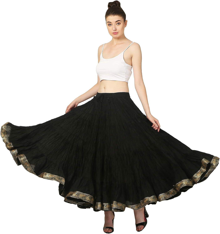 BEIGE Cotton Tribal Fusion Gypsy 25 Yard 4 Tier Skirt Belly Dancing Flamenco