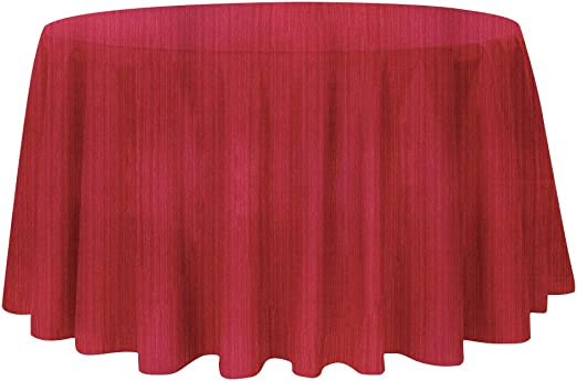 Amazon.com: Luxury Stripe Fabric Round Tablecloths, Heavy Weight Classic Polyester Table Cloths, No Iron,Water Resistance Soil Resistant Holiday Table Cloth for Dining Room,70 Inch Round ,Burgundy: Kitchen & Dining