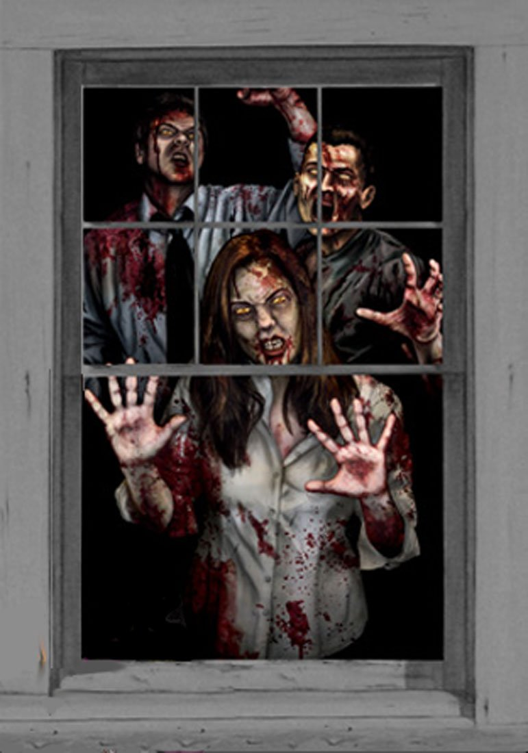 Wowindow Zombie Decorations Window Scene Posters [00033]