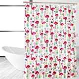Affluence Home Fashions Fancy Flamingo Shower Curtain