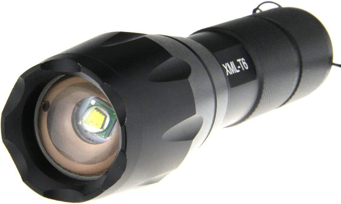 CREE Flashlight Zoom 100000LM Tactical Military XML CREE T6 LED Torch Work Light