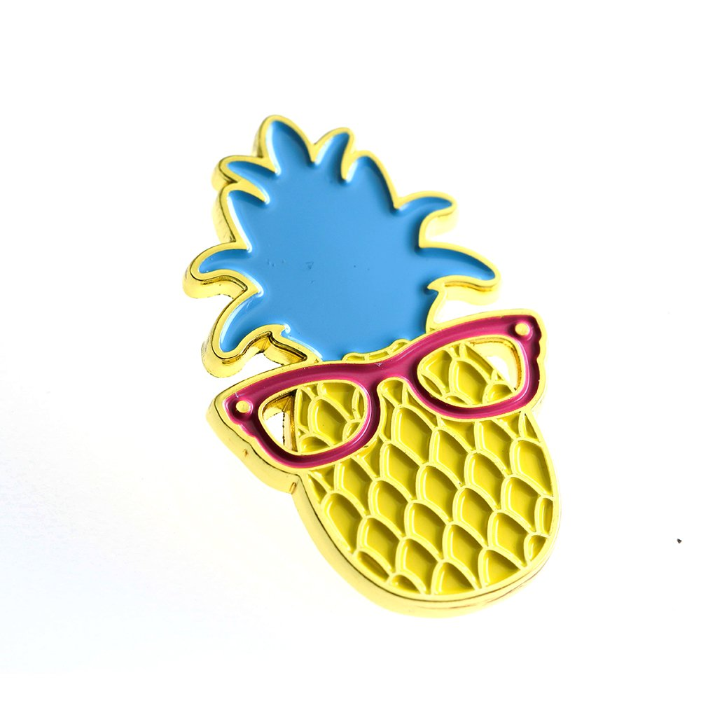 Ms. Clover Pineapple Enamel Pin Cute Fruit Enamel Pins Gifts for Women Cool Lapel Pins for Her. by Ms. Clover (Image #2)