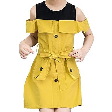 1ce8d7aea0580 YY-Natuhi 子供服 女の子 ワンピース ドレス 半袖 肩出し カジュアル フォーマル キッズ服 ガールズ