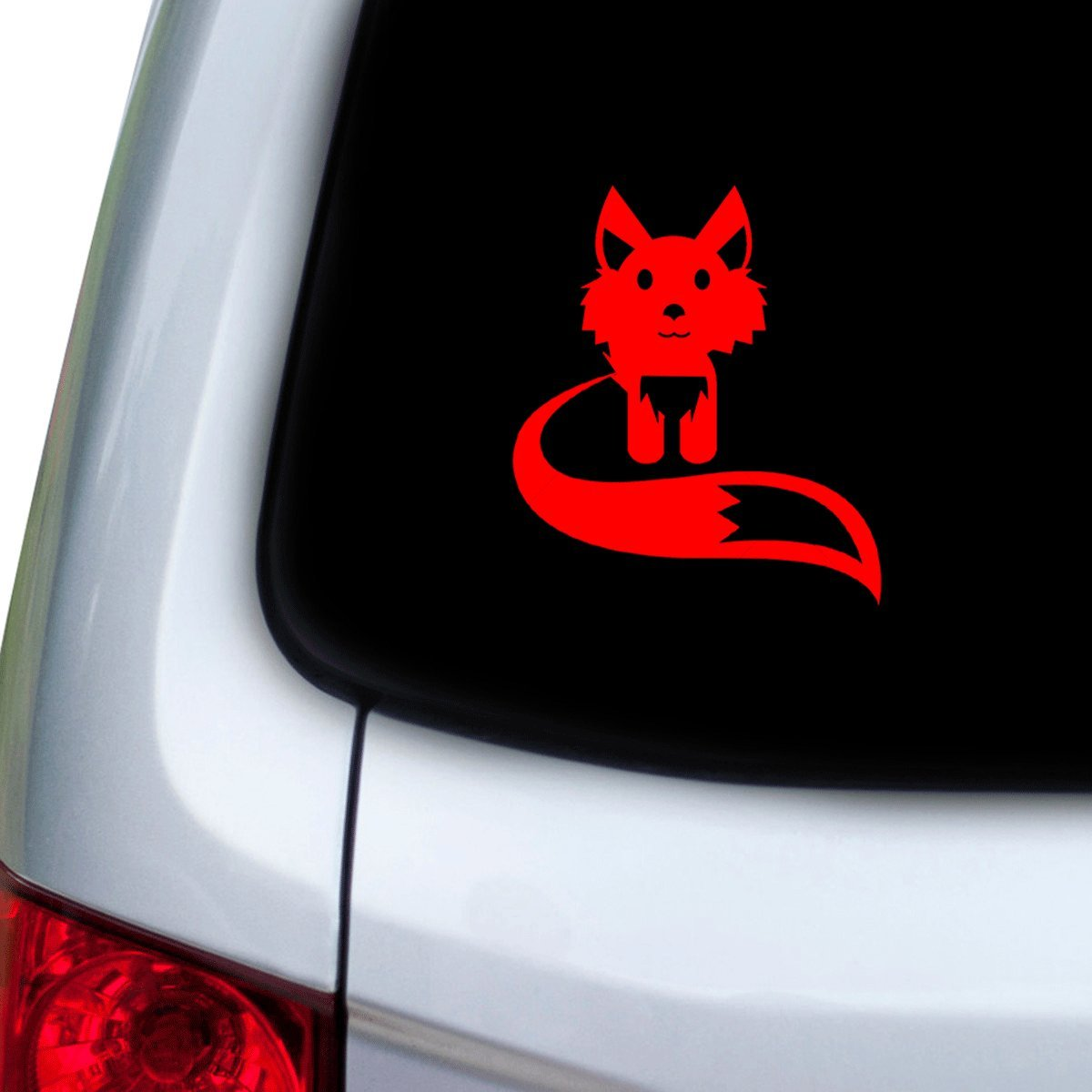 Red Hoods Doors StickAny Car and Auto Decal Series Fox Cute Sticker for Windows