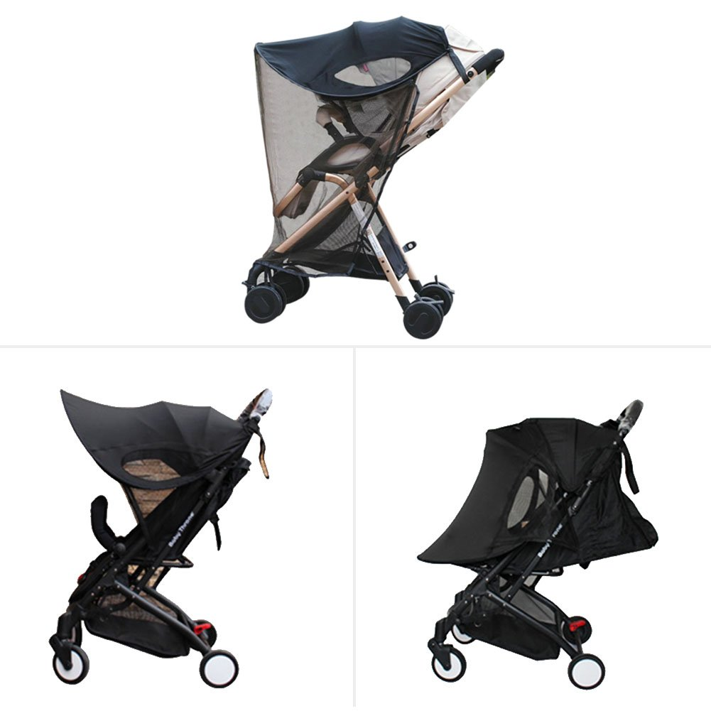 Bulary Baby Car Universal Anti-UV Windproof Insect Mosquito Repellent Sun Shade Black