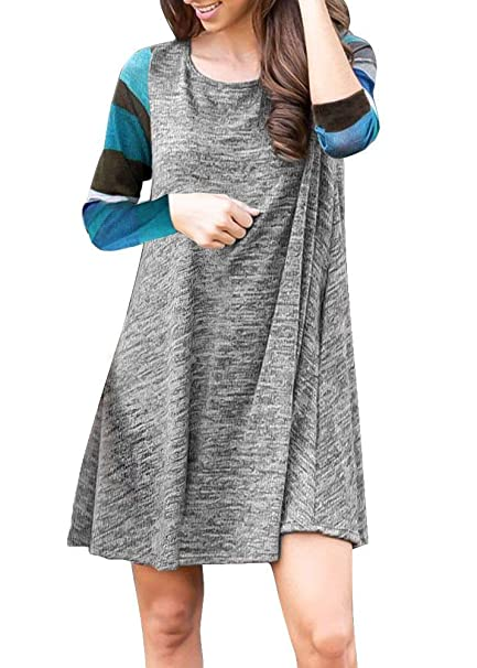 1b547985cf For G and PL Women's Colorful Striped Tunic Dress with Pocket at Amazon  Women's Clothing store: