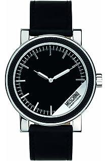 amazon com moschino mens fashion dress analog casual quartz watch moschino mens mr label analog casual quartz watch nwt mw0267