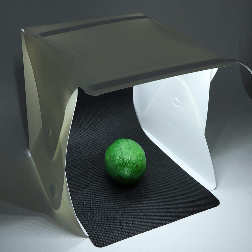 Oumij Portable Foldable Photo Studio Box,Photo Studio LED Light Box,Mini Photography LED Light Shooting Tent Kit,202020cm