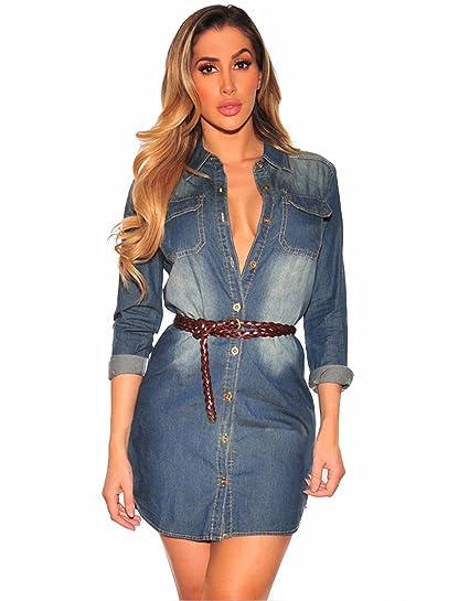 f2a9910430b9 TieNew La Femme Est Élégant Boutonnière Jeans Jumpsuit