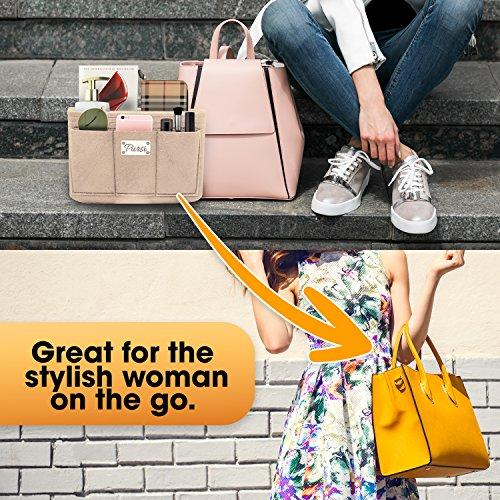 Pursi Handbag Purse Organizer Insert - Felt Fabric Multi Compartment Design by Pursi (Image #5)