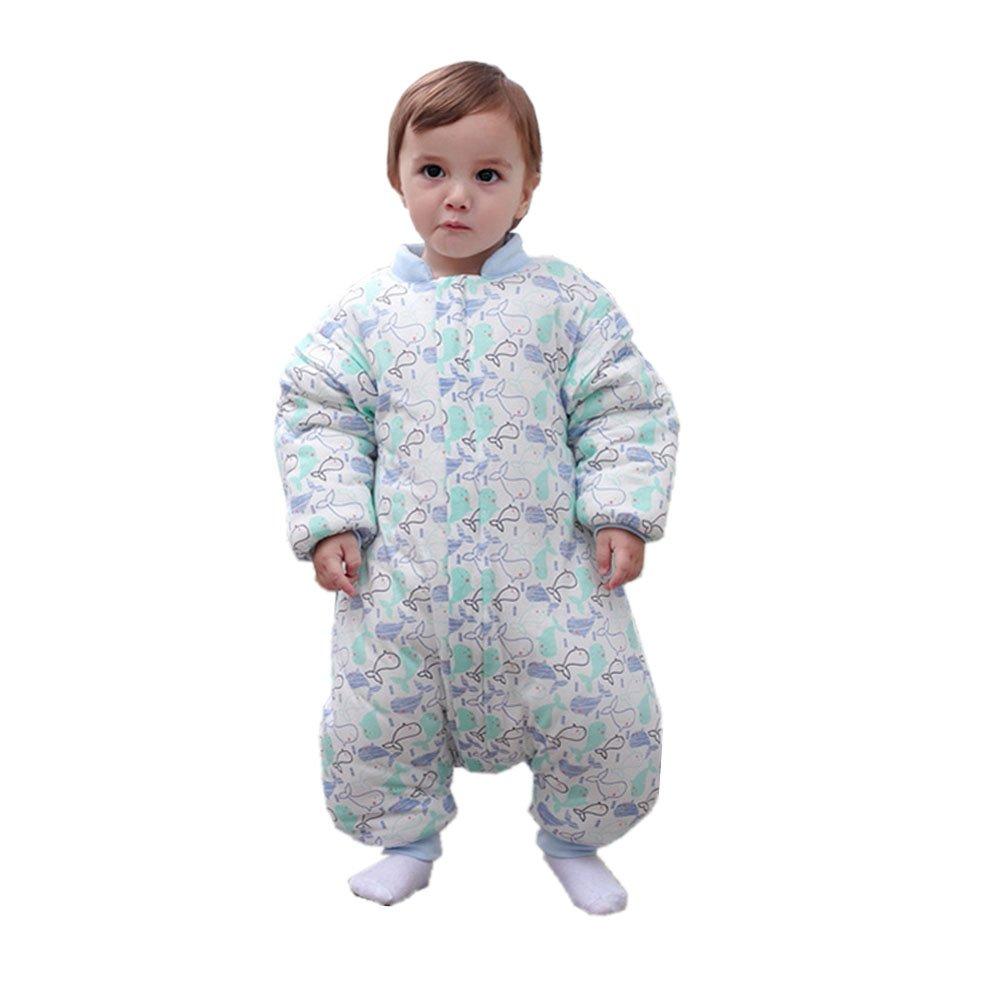 新しい赤ちゃんウェアラブル毛布Baby Sleeping袋バッグ冬、100コットン、漫画の動物、6 – 36ヶ月 90CM B076RXD7VN 90 HSD-012-blue HSD-012-blue 90