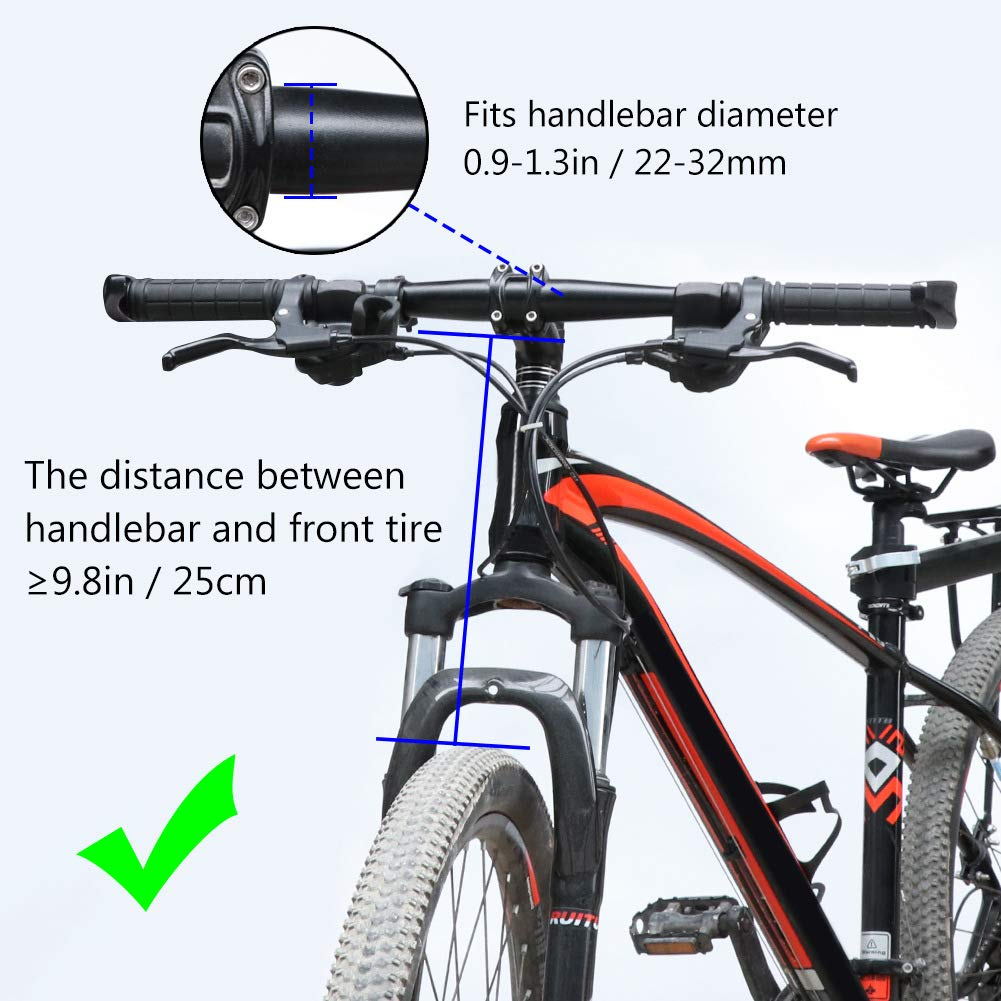Cesta Multiusos con Asa de Bicicleta para Portador de Mascotas Malet/ín para el Viajero Compras COFIT Cesta de Bicicleta Plegable Acampada al Aire Libre