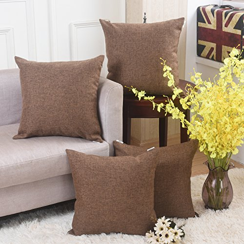 living room pillow covers home brilliant solid linen throw pillowcase cushion 14856