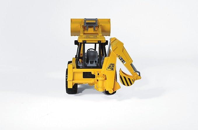 Bruder-02428 Excavadora con 2 Palas Color Negro, Amarillo 2428: Amazon.es: Juguetes y juegos