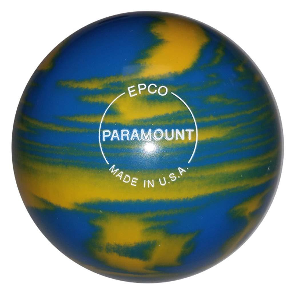 Bowlerstore Products ダックピン パラマウント マーブル加工 ボーリングボール 4 3/4インチ マリーゴールド/ロイヤル 3ポンド 6オンス B07NWYZYCW
