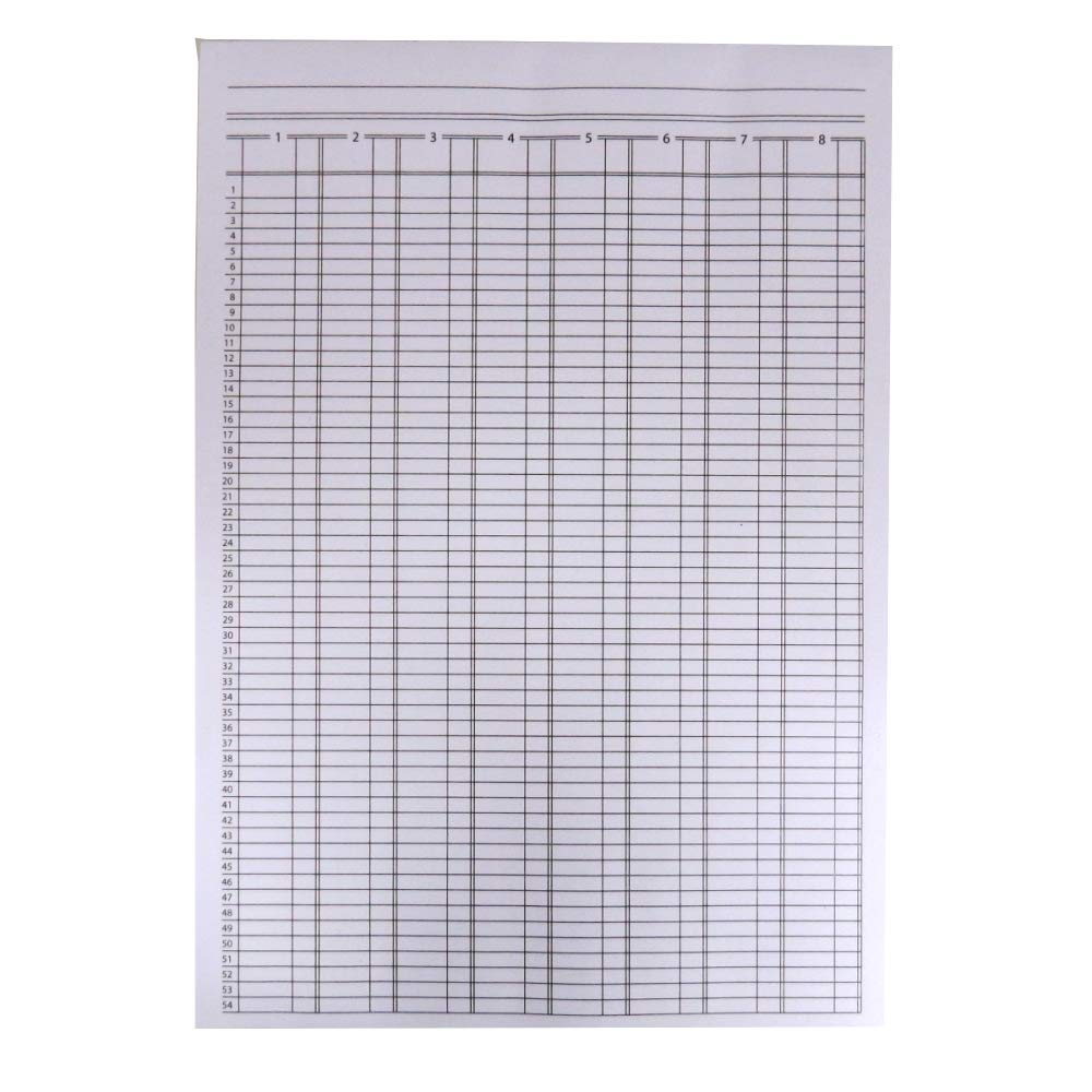 Nuco A4 Analysis Pad, 8 Column, 80 Sheets, 80gsm Smooth Paper