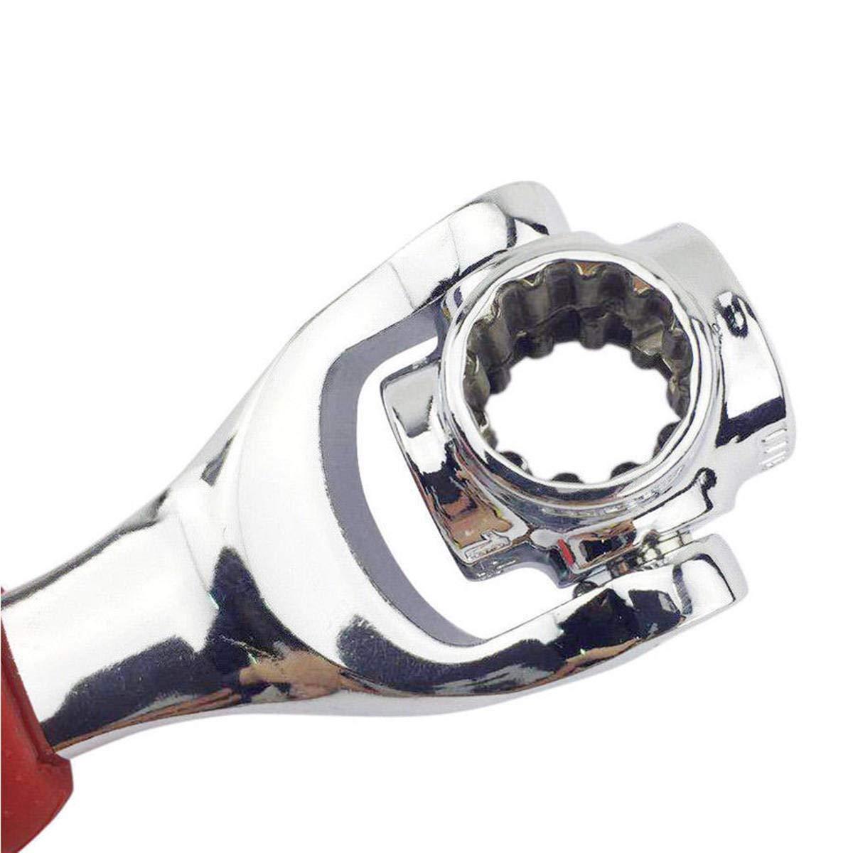 Llave multifuncional 48 en 1 for pernos estriados Todos los tama/ños Torx 360 /° Socket Tools Auto Repair Mano herramienta de la llave del hogar
