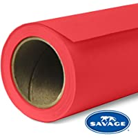 Seamless Background Paper 1.35m x 11m Professional, Vibrant Savage Seamless Background Paper 1.35m x 11m - Primary RED, Primary RED (SAV81253)