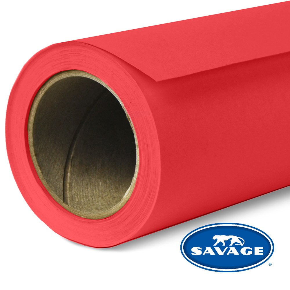 Savage Seamless Background Paper - #8 Primary Red (107 in x 36 ft) by Savage
