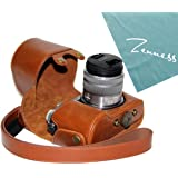 PDXD-share Protective Camera Leather Case Bag Cover for Panasonic Lumix DMC-GX7 GX7 14-42mm Lens Camera (Brown)