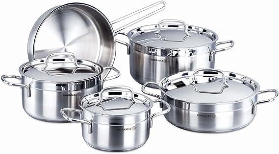 طقم اواني طبخ فضي مكون من 9 قطع من كوركماز الفا