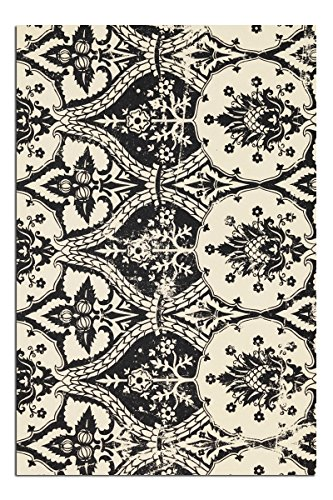 (JP London Solvent Free Art Print SPAP2180 Ready to Frame Poster Vintage Gothic Damask Toile at 11